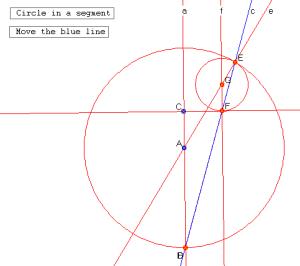 circle in a segment